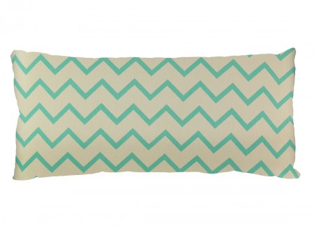 Averell cushion 52x24 zig zag green