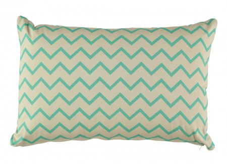Neptune cushion 60 x 40 zig zag green