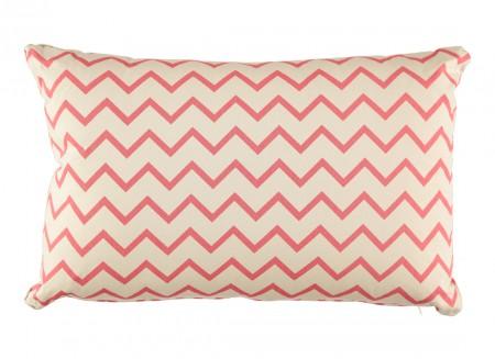 Neptune cushion 60 x 40 zig zag pink