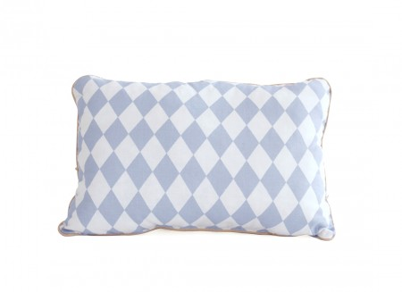 Jack cushion 34x23 blue diamonds