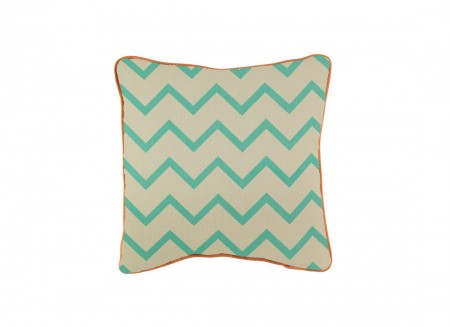 Joe cushion 19x19 zig zag green