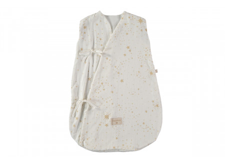 Dreamy summer sleeping bag 0-6 M gold stella/ white