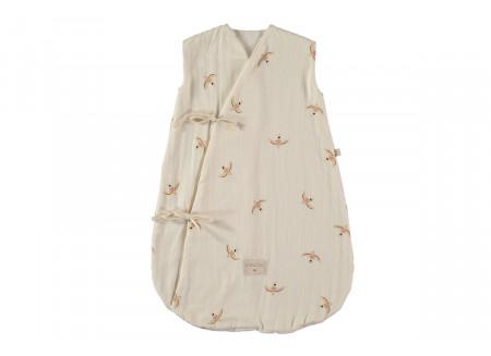 Dreamy summer sleeping bag 0-6 M nude haiku birds/ natural