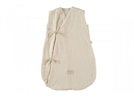 Dreamy summer sleeping bag 0-6 M honey sweet dots/ natural