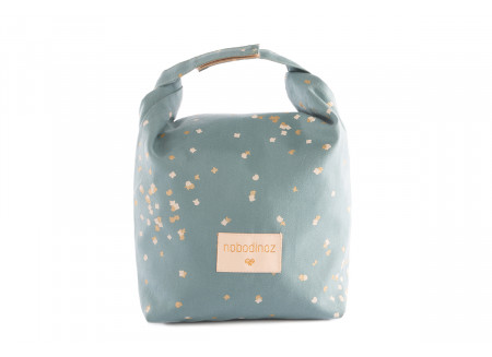 Eco lunch bag gold confetti/ magic green