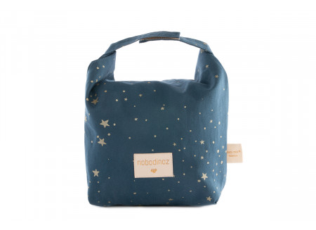 Eco lunch bag gold stella/ night blue