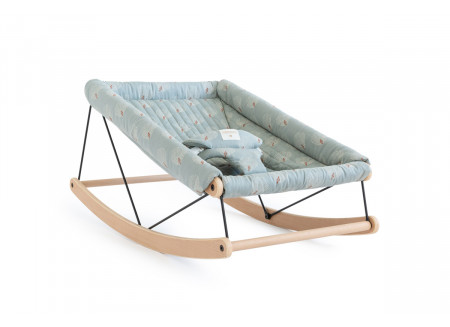 Growing Green baby bouncer • white gatsby antique green