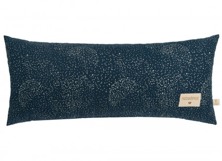 Hardy cushion • gold bubble night blue