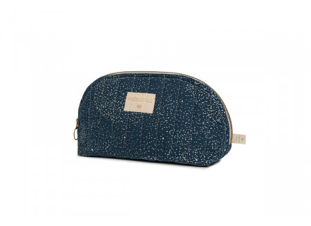 Holiday vanity case • gold bubble night blue