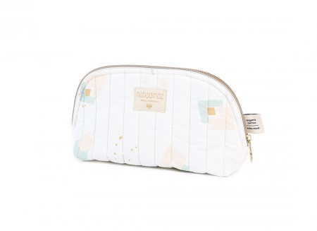 Holiday vanity case • aqua eclipse white