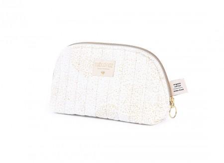 Holiday vanity case gold bubble/ white - 2 sizes
