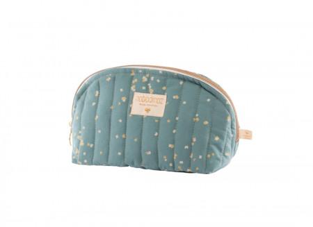 Holiday vanity case gold confetti/ magic green - 2 sizes