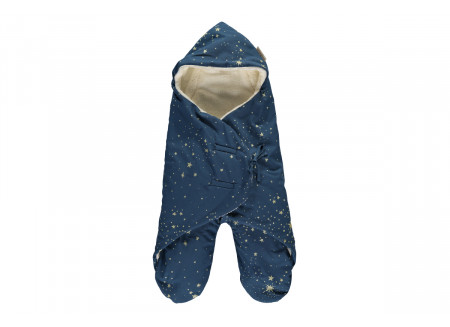 Kiss Me mid-season baby wrap 0-6 M gold stella/ night blue