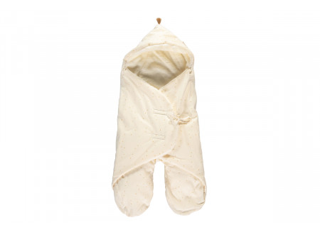 Kiss Me mid-season baby wrap 0-6 M honey sweet dots/ natural