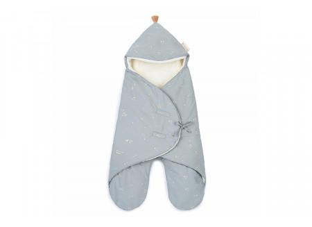 Kiss Me 0-6M mid-season baby wrap • willow soft blue