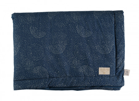 Laponia blanket • gold bubble night blue