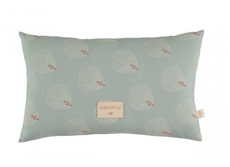 Laurel cushion • white gatsby antique green