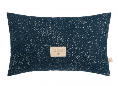 Laurel cushion • gold bubble night blue