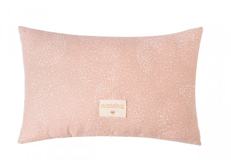 Laurel cushion • white bubble misty pink