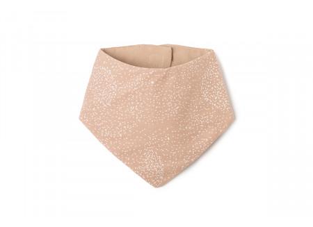 Lucky bandana bib • white bubble misty pink