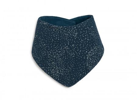 Lucky bandana bib • gold bubble night blue