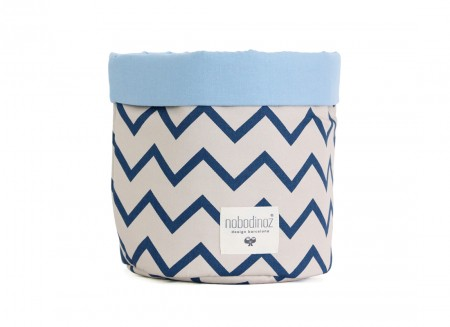 Mambo basket zig zag blue - 3 sizes