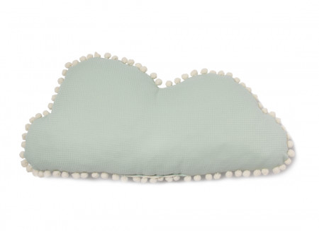 Marshmallow cloud cushion 30x58 aqua