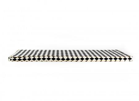 Saint Tropez floor mattress 120X60X4 black diamonds