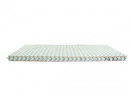 Saint Tropez floor mattress 120X60X4 zig zag green