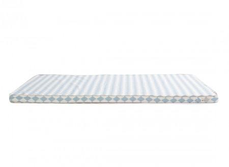 Saint Tropez play mattress • blue diamonds