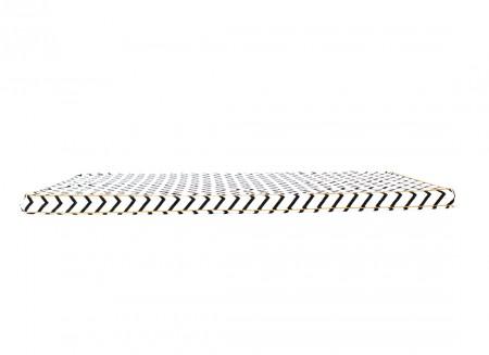 Saint Tropez floor mattress 120X60X4 zig zag black