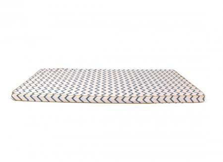 Saint Tropez play mattress • zig zag blue