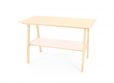Solid Beech wood Table - opera pink