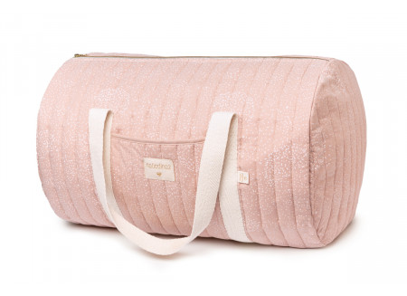 New York weekend bag • white bubble misty pink
