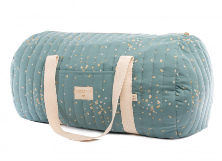 New York weekend bag gold confetti/ magic green