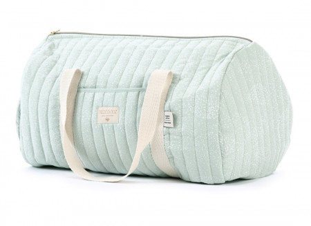New York weekend bag 30x45x30 white bubble/ aqua