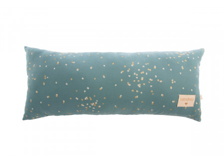 Hardy cushion • gold confetti magic green