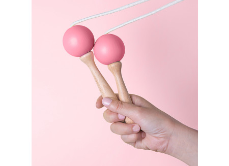 Skipping rope 210cm pink