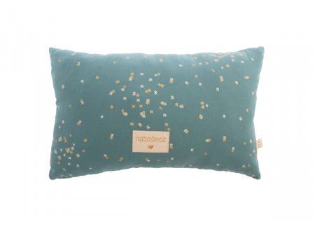Laurel cushion • gold confetti magic green