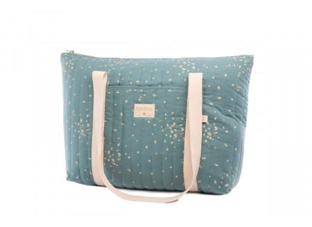 Paris maternity bag gold confetti/ magic green