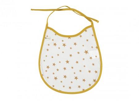 Palermo bib oil cloth 25x23 mustard stars