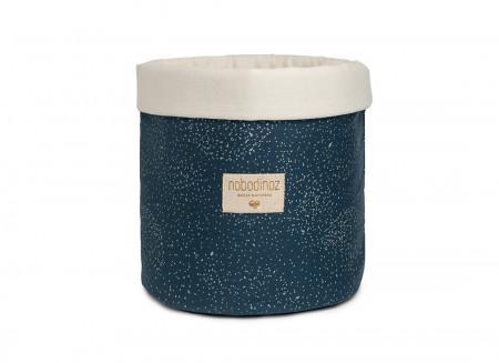 Panda basket • gold bubble night blue