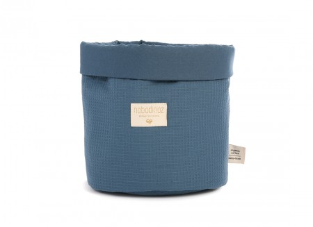 Panda basket • honeycomb night blue