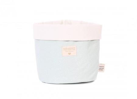 Panda basket white bubble/ aqua - 3 sizes