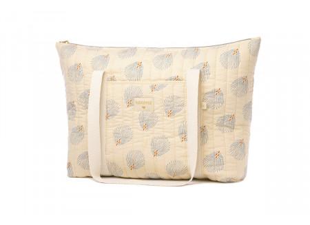Paris maternity bag blue gatsby cream
