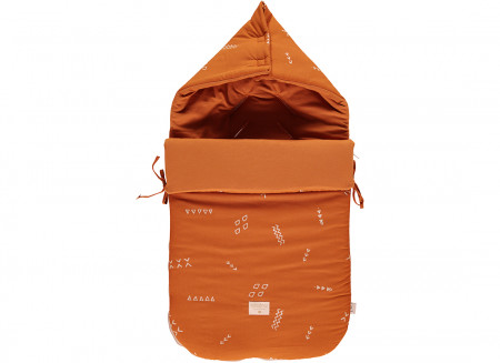 Passegiata footmuff 90x46x6 gold secret/ sunset
