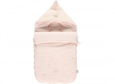 Passegiata footmuff 90x46x6 gold stella/ dream pink