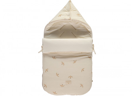 Passegiata winter footmuff 0-6 M nude haiku birds/ natural
