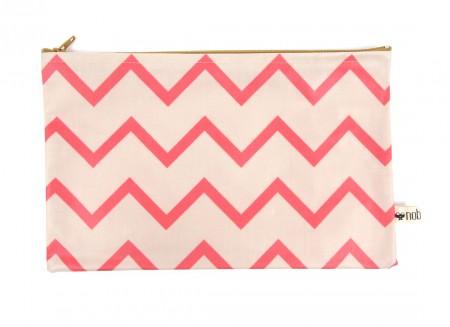 Roma pencil case 24x15 zig zag pink