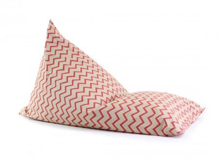 Essaouira kid beanbag • zigzag pink